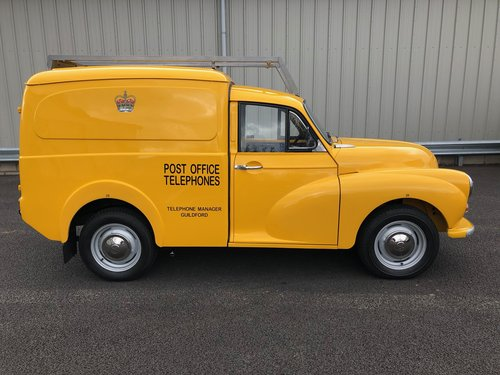 1971 MORRIS MINOR POST OFFICE TELEPHONES 6CWT VAN SOLD (picture 2 of 6)