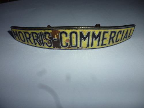 1939 Morris commercial LC3 Enamel Bonnet Badge For Sale (picture 1 of 4)