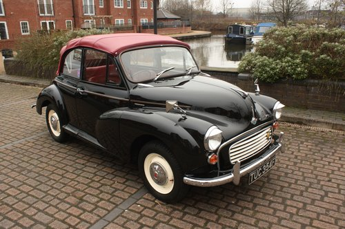 1967 Morris Minor Convertible - Black, restored 1098cc SOLD (picture 1 of 6)