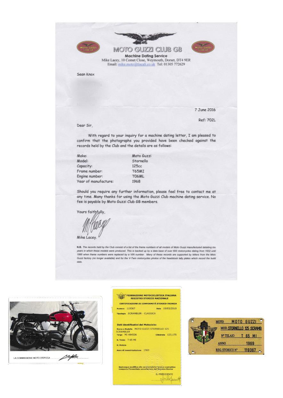 1968 Moto guzzi 125cc stornello For Sale (picture 5 of 6)