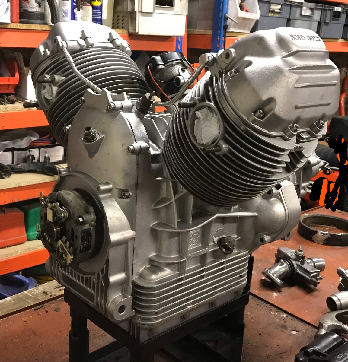 1976 Moto Guzzi 850 T3 Rebuilt Engine and Gearbox For Sale (picture 3 of 3)