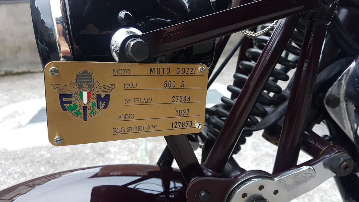 1938 Moto Guzzi S Rigido For Sale (picture 4 of 6)