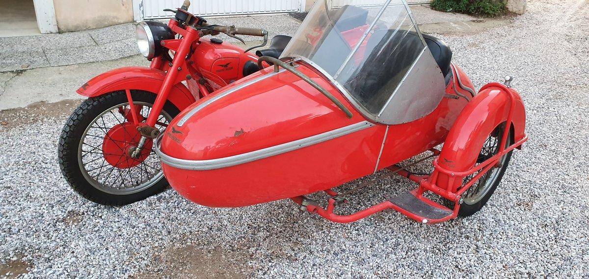 1947 Moto Guzzi GTV con sidecar For Sale (picture 1 of 3)