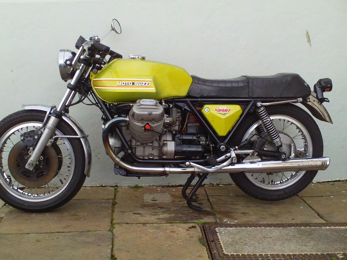 1973 MOTO GUZZI V7 SPORT SOLD (picture 3 of 6)