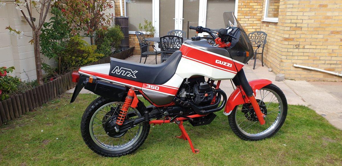 1992 Very rare moto guzzi NTX350.  11500 MILES. For Sale (picture 1 of 6)