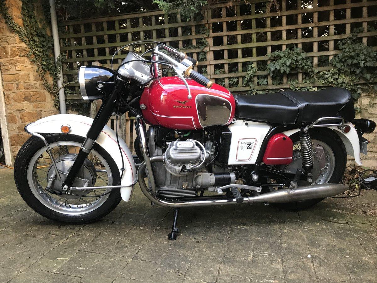 1969 Moto Guzzi V750 Ambassador Rare For Sale (picture 1 of 6)