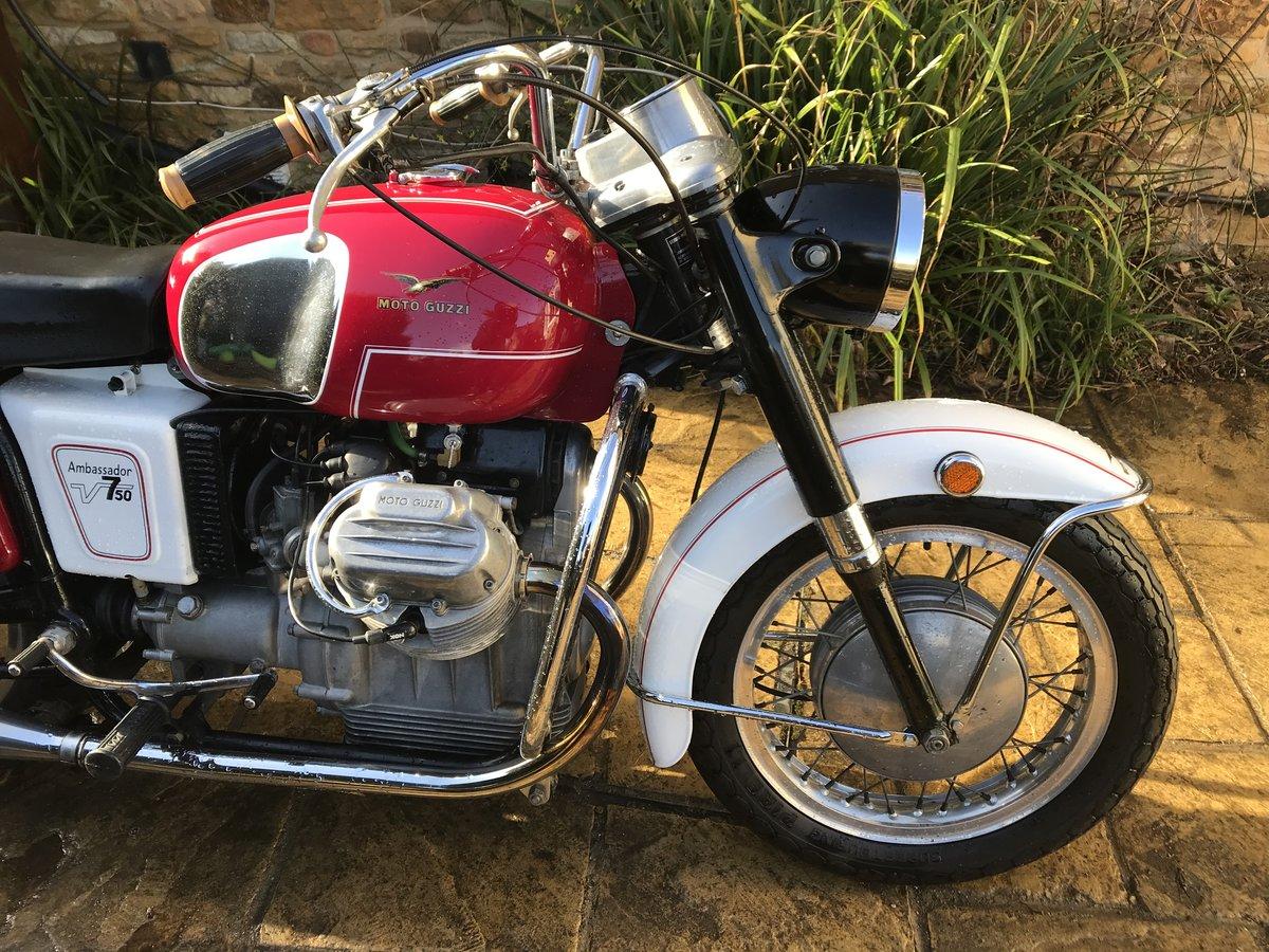 1969 Moto Guzzi V750 Ambassador Rare For Sale (picture 2 of 6)