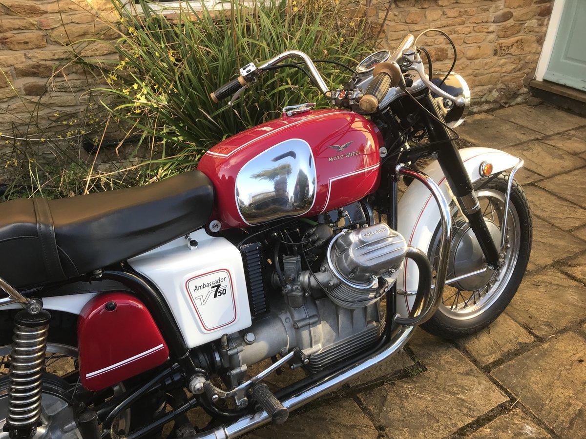 1969 Moto Guzzi V750 Ambassador Rare For Sale (picture 3 of 6)
