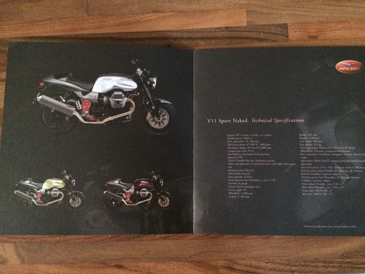 Moto Guzzi Collection 2001 brochure For Sale (picture 3 of 9)
