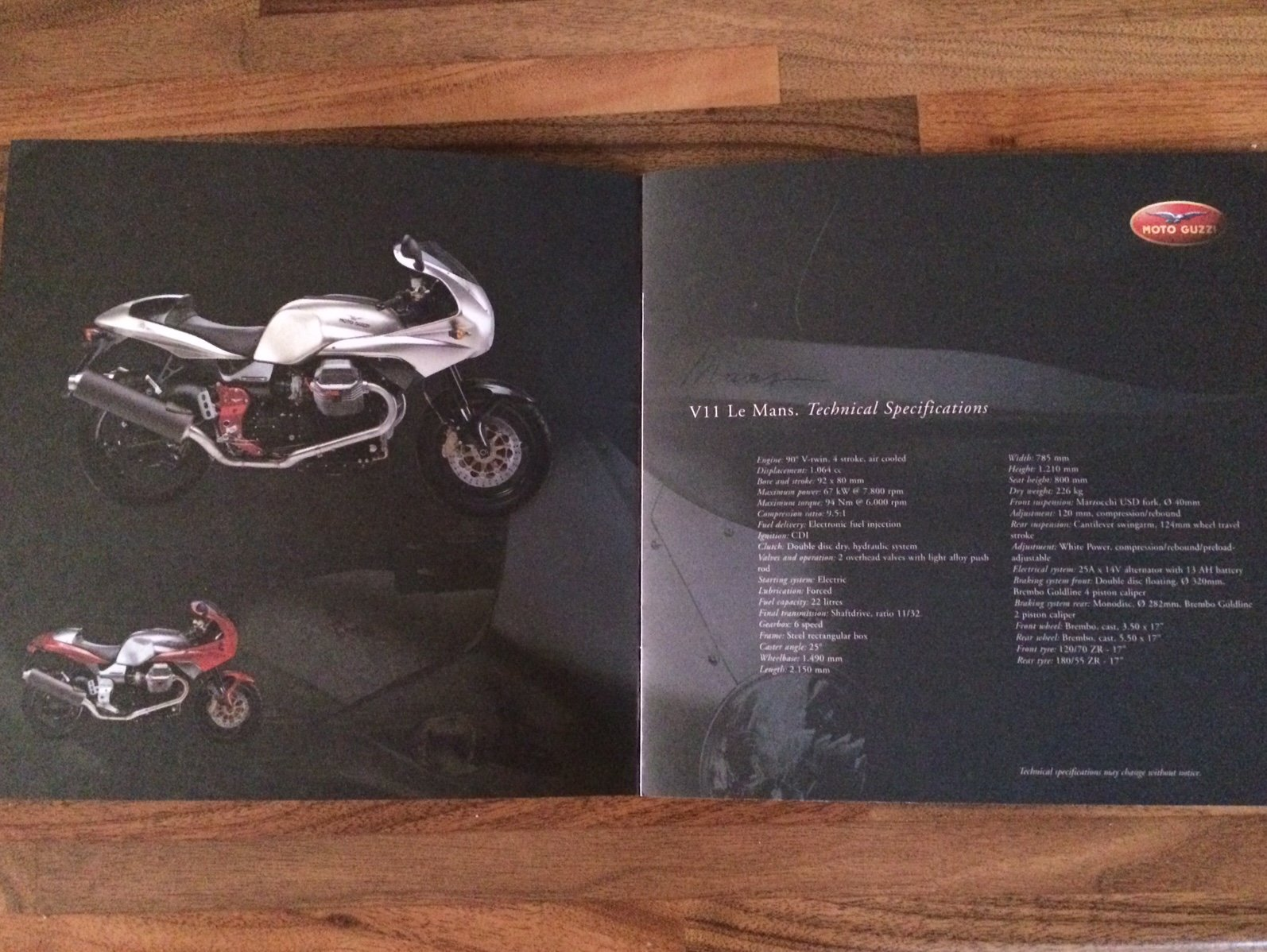 Moto Guzzi Collection 2001 brochure For Sale (picture 4 of 9)