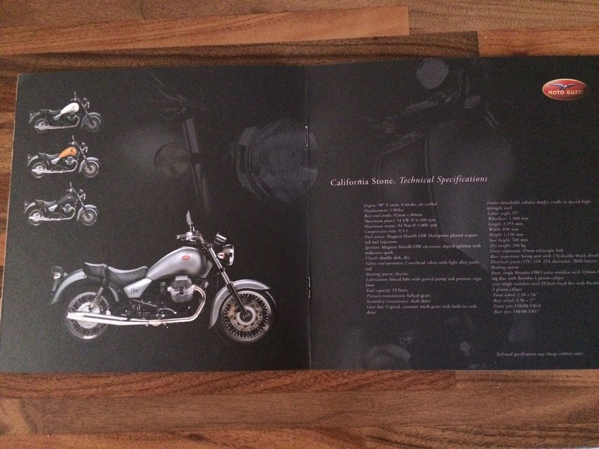 Moto Guzzi Collection 2001 brochure For Sale (picture 5 of 9)