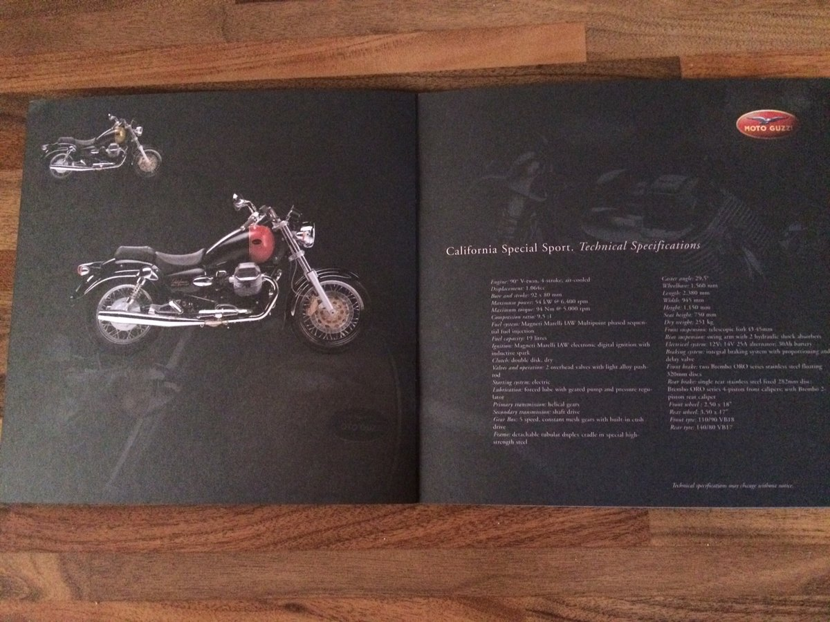 Moto Guzzi Collection 2001 brochure For Sale (picture 6 of 9)