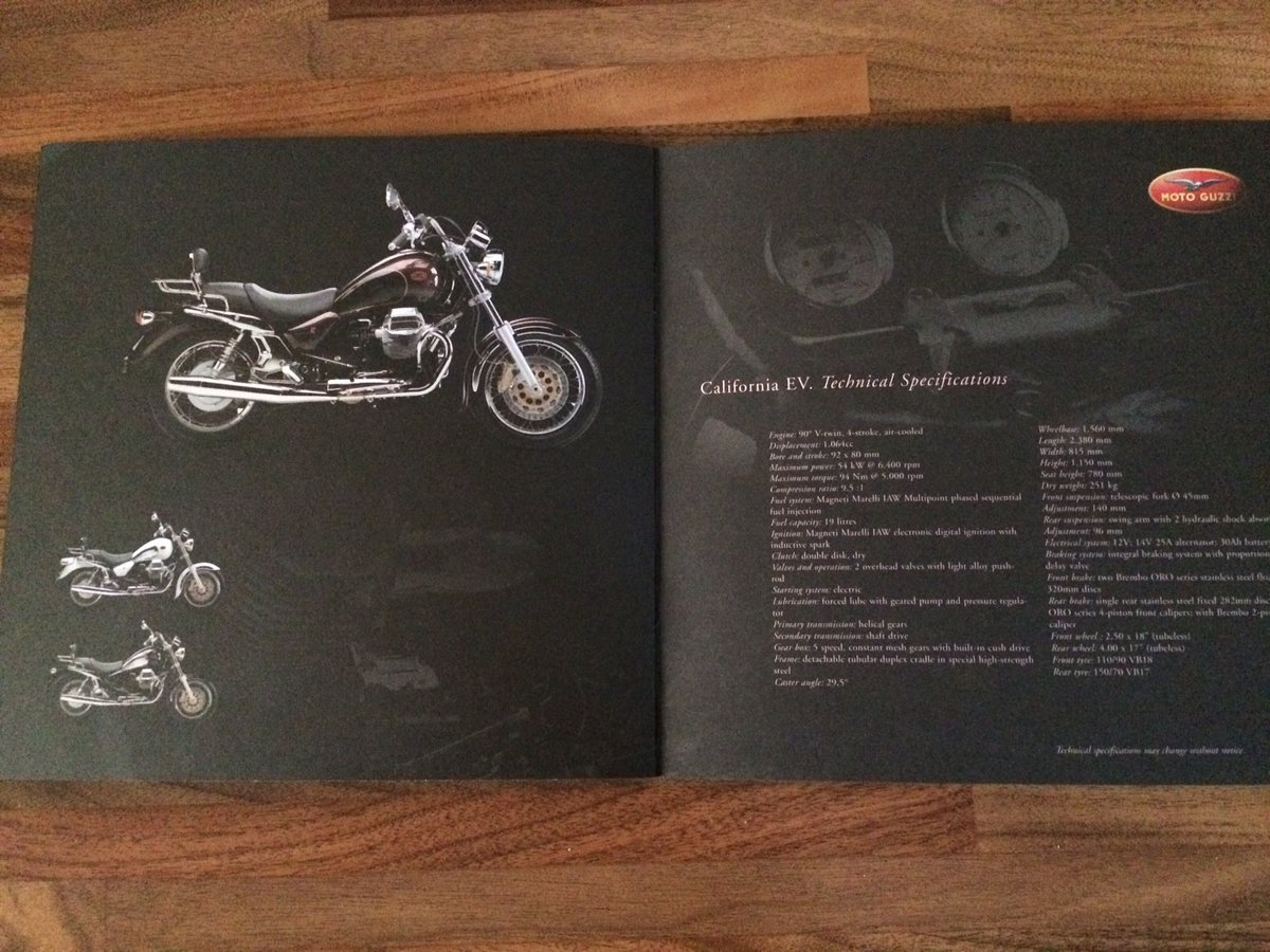 Moto Guzzi Collection 2001 brochure For Sale (picture 7 of 9)