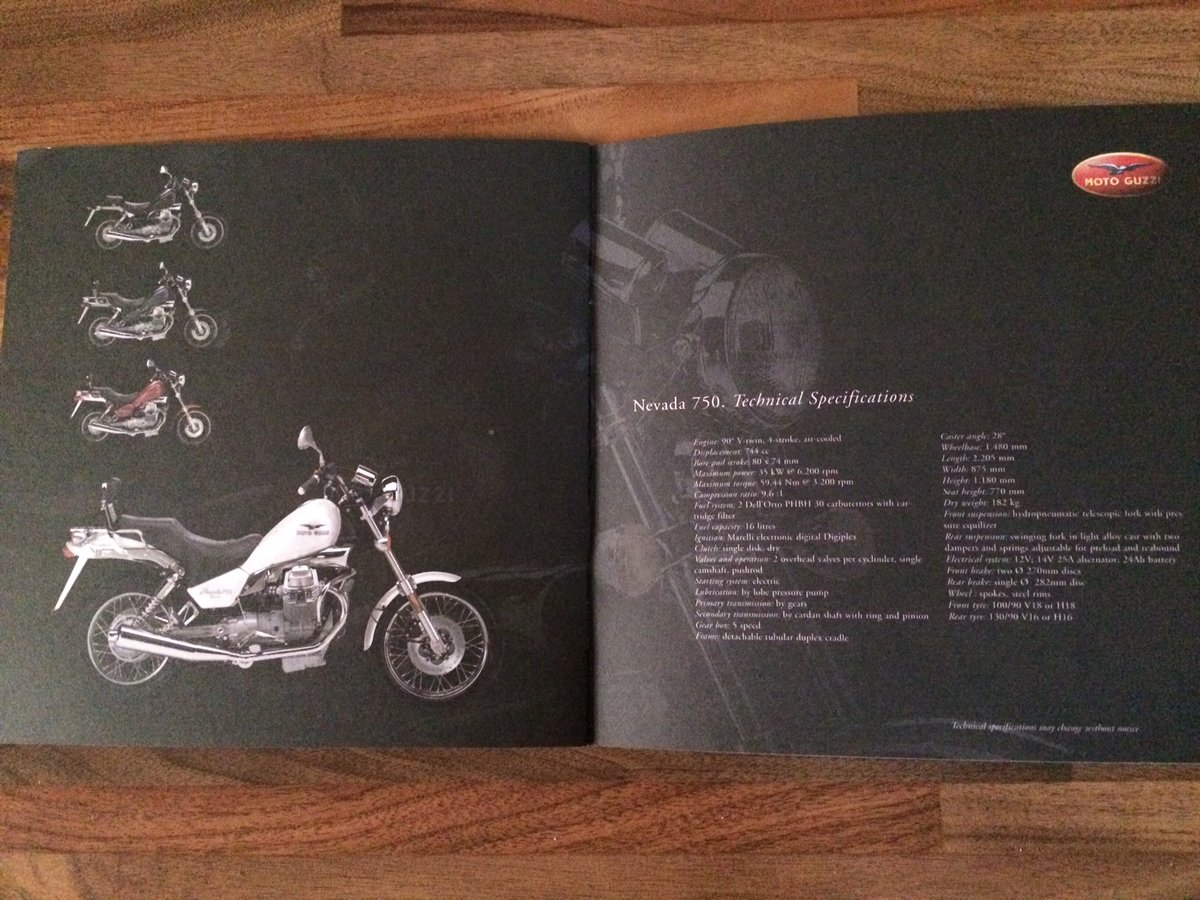 Moto Guzzi Collection 2001 brochure For Sale (picture 8 of 9)