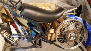 1985 Moto Morini Kanguro rolling chassis spares