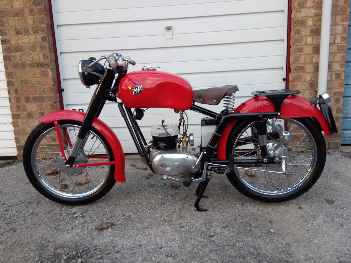 1953 MV Agusta Rare & Beautiful 125 TEL. For Sale (picture 1 of 2)