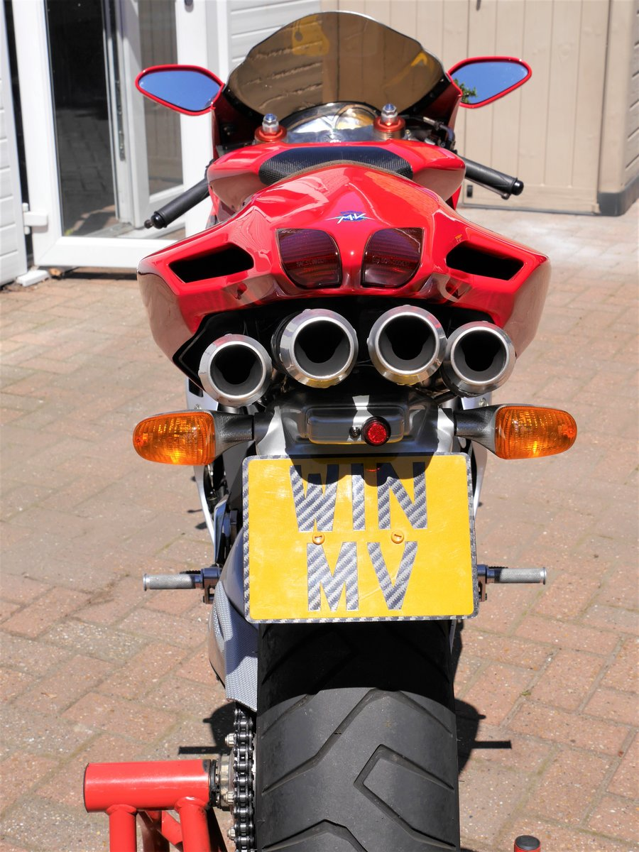 2000 MV Agusta 750F4 S, 7k miles W1N MV plate For Sale (picture 3 of 6)