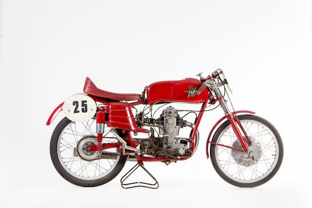 1954 MV AGUSTA 123.5CC MONOALBERO RACING MOTORCYCLE SOLD by Auction (picture 1 of 1)
