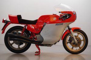 Picture of 1978 MV Agusta Monza with Magni pipes and cylinders.