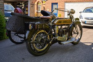 1913 Veteran New Hudson Big Six and Sidecar For Sale