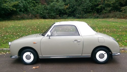 Nissan Figaro.. Rare Topaz Mist.. Low Miles.. Nice Example SOLD (picture 1 of 6)