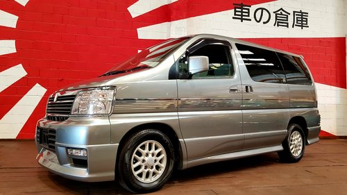 2001 NISSAN ELGRAND 3.5 AUTOMATIC 8 SEATER CAMPER 23000 MILES For Sale (picture 1 of 6)