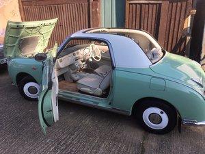 1991 Nice Emerald Green Figaro  Full MOT & rust free For Sale