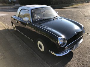 Nissan Figaro Beautiful Condition Black 1991 For Sale