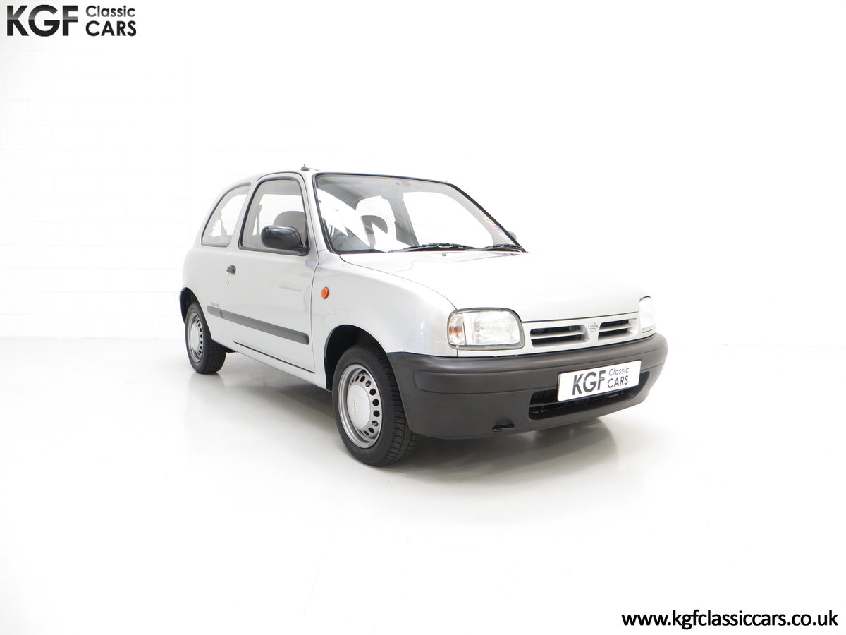 1995 Nissan Micra 1.0L, 14,345 Miles and 19 Nissan Dealer Stamps For Sale (picture 1 of 6)