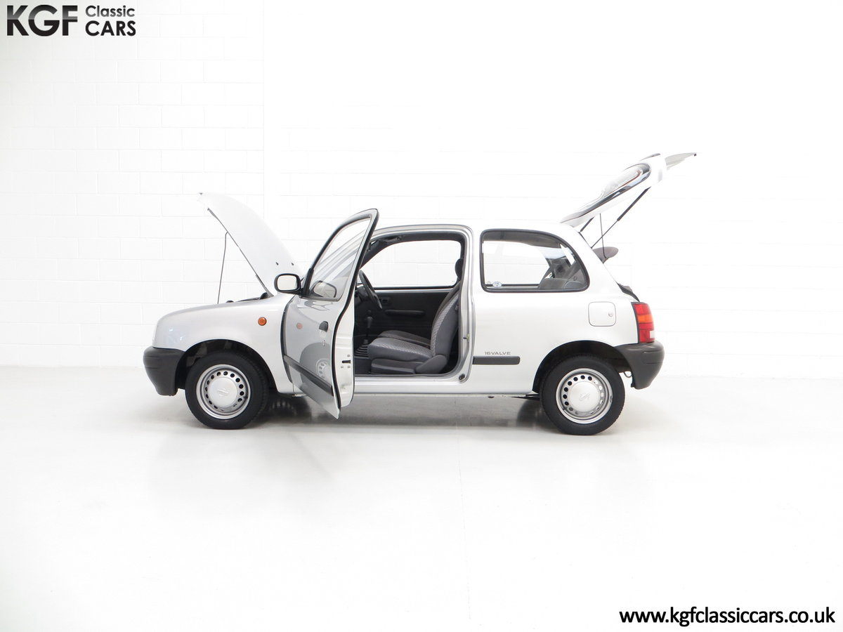 1995 Nissan Micra 1.0L, 14,345 Miles and 19 Nissan Dealer Stamps For Sale (picture 3 of 6)