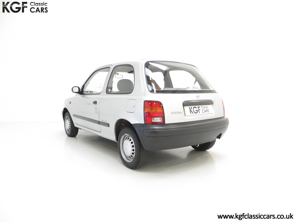 1995 Nissan Micra 1.0L, 14,345 Miles and 19 Nissan Dealer Stamps For Sale (picture 4 of 6)