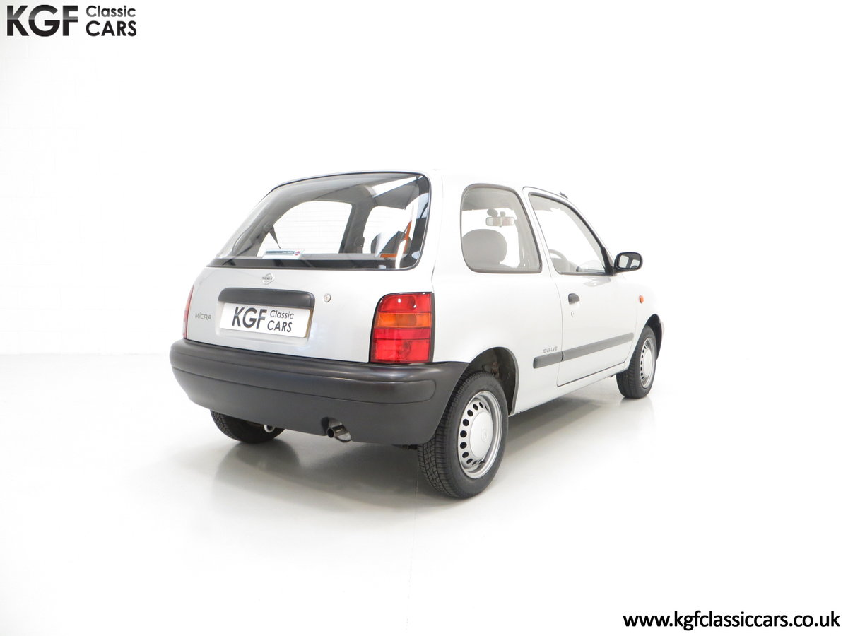 1995 Nissan Micra 1.0L, 14,345 Miles and 19 Nissan Dealer Stamps For Sale (picture 5 of 6)