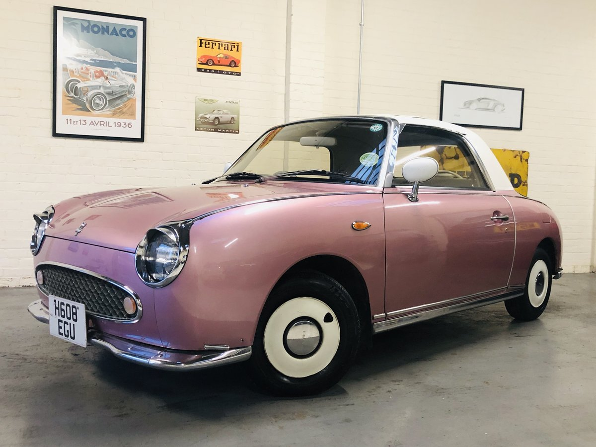 1991 NISSAN FIGARO - PINK, SUPER VALUE FOR MONEY SOLD (picture 1 of 6)