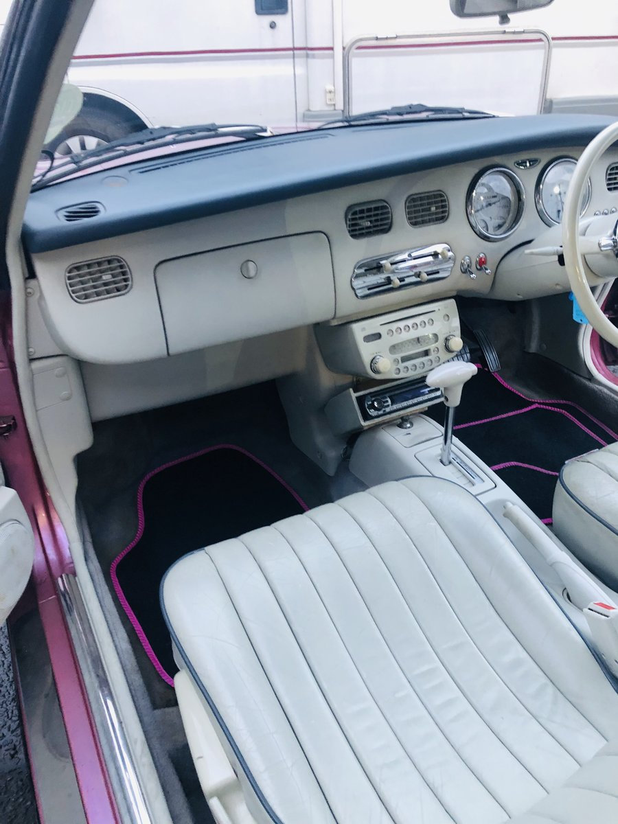1991 NISSAN FIGARO - PINK, SUPER VALUE FOR MONEY SOLD (picture 5 of 6)