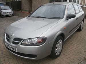 2004 nissan almera 1.5 s 5 door,fsh,new mot,vgc For Sale