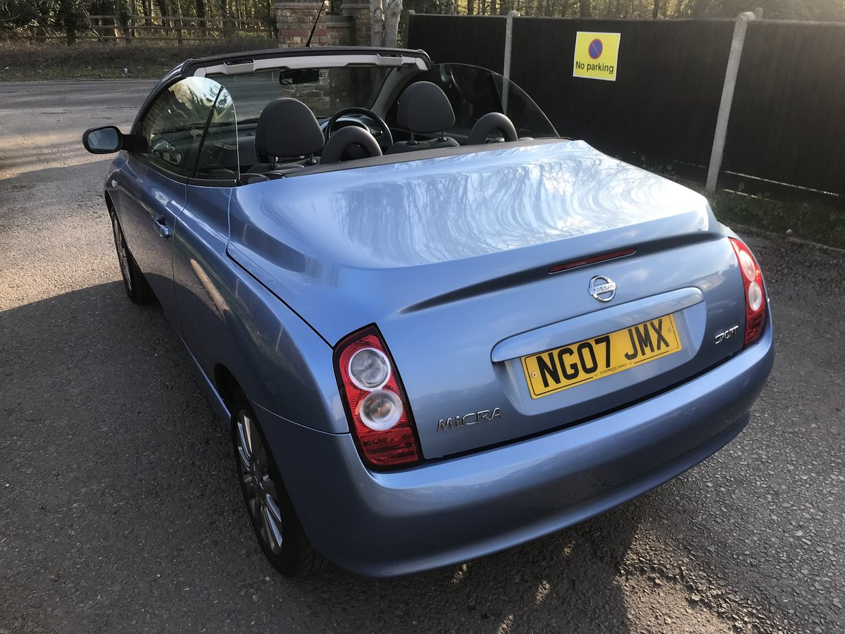 2007 MICRA C+C OUTSTANDING CONDITION  JUST 30000 MILES FROM NEW For Sale (picture 6 of 6)