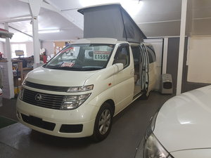 Nissan Elgrand, 4WD,Very Low Mileage,New 4b camper conversio