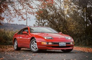 1992 Nissan 300ZX Coupe = Manual 40k miles Red $23.9k For Sale