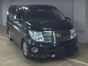 2009 NISSAN ELGRAND  NISSAN ELGRAND 350 HIGHWAY STAR BLACK