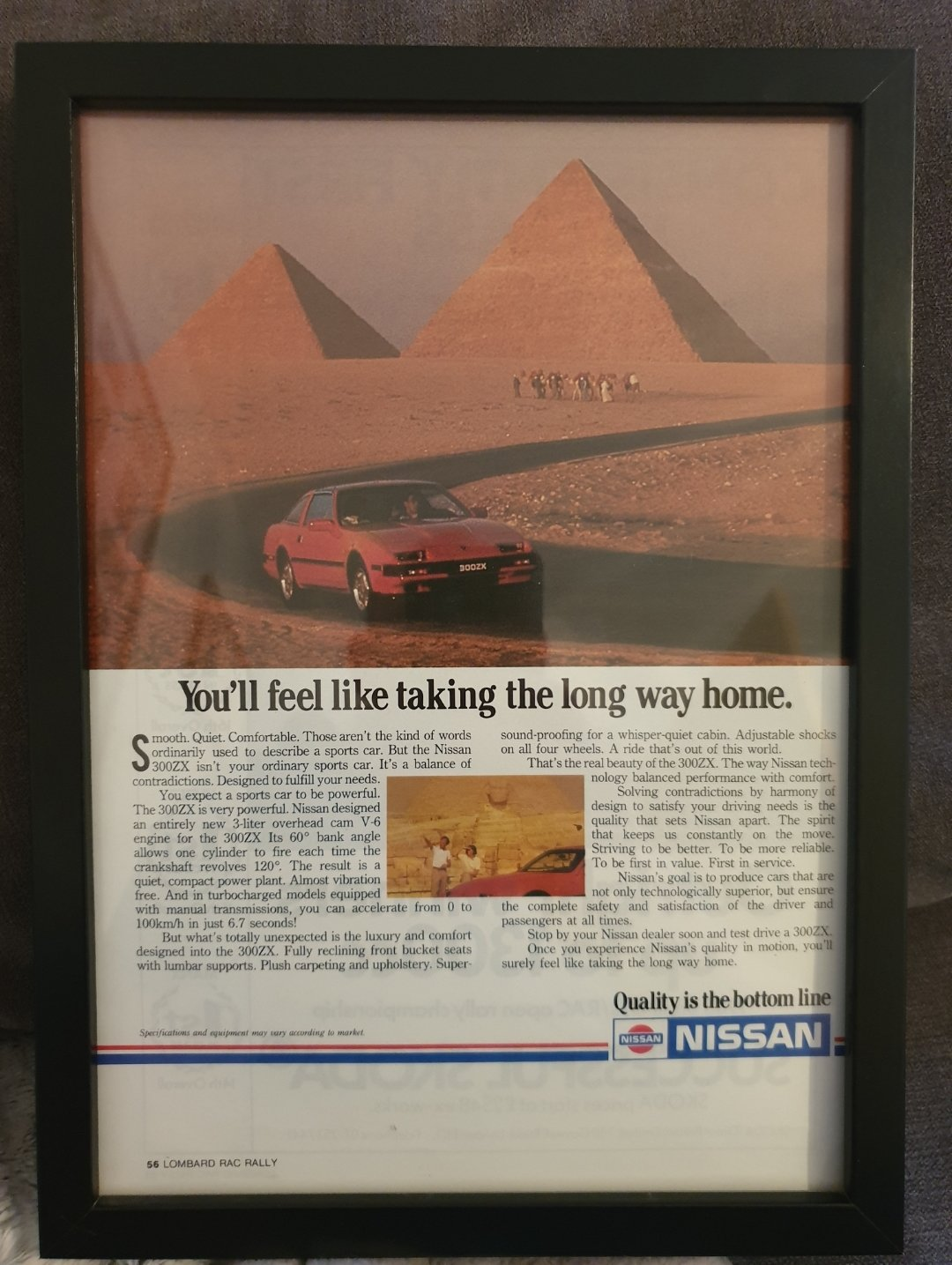 1985 Nissan 300ZX Advert Original  For Sale (picture 1 of 2)