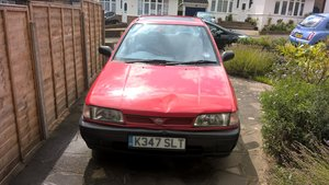 1993 Nissan Sunny Saloon, 49k miles, garaged, Red.
