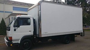 2002 UD Trucks UD1400 box truck 14 foot + Liftgate AT $13.9k For Sale
