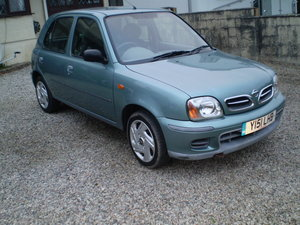 2001 Nissan micra automatic 29,020 miles warranted.