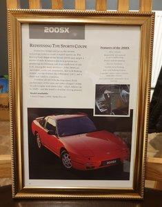1992 Nissan 200 SX Framed Advert Original