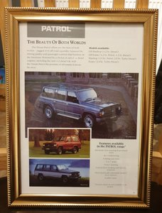 1992 Nissan Patrol Framed Advert Original