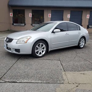 2007 Nissan Maxima 3.5 SL 4 Door Sedan Silver driver $$3.9k For Sale
