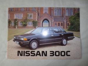 Nissan 300C Saloon and Estate UK sales brochure