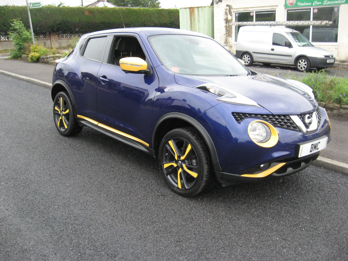 2015 15-reg Nissan Juke 1.5dCi Tekna Yellow edition For Sale (picture 1 of 6)