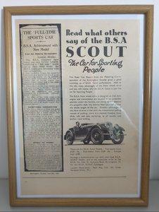 Original 1937 BSA Scout Framed Advert