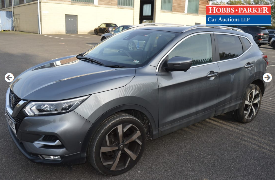 2018 Nissan Qashqai Tekna Dig-T S-A 8,514 Miles for auction 25th For Sale (picture 4 of 6)